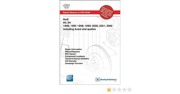 2001 audi a4 wiring diagram audi a4  s4 1996  1997  1998  1999  2000  2001  2002 repair  audi a4  s4 1996  1997  1998  1999