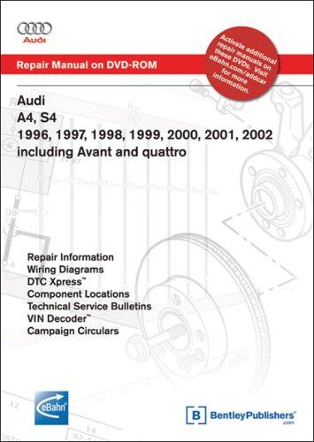Audi A4, S4 1996, 1997, 1998, 1999, 2000, 2001, 2002: Repair Manual on DVD-ROM (Windows 2000/XP)