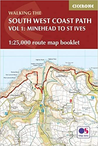 south west coast path map booklet minehead to st ives 125000 os route mapping british long distance amazonde paddy dillon fremdsprachige bcher