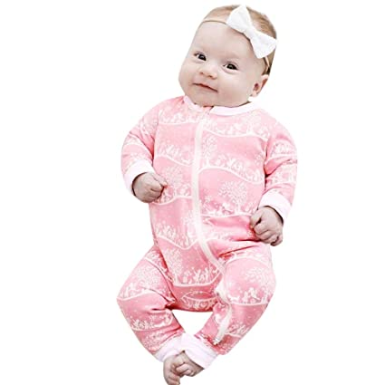 3287874c8bd7 Sikye Newborn Infant Baby Boys Girls Full-Zip Romper Long Sleeve One-Piece  Jumpbee