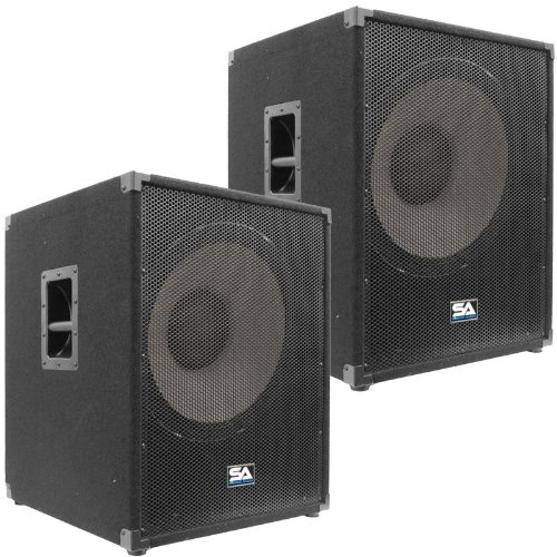 Seismic Audio - Enforcer II PW - Pair of Powered PA 18