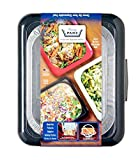 FANCY PANZ Portable Casserole Serveware, for Indoor and Outdoor Use,  Charcoal, Bonus Foil Pan Included