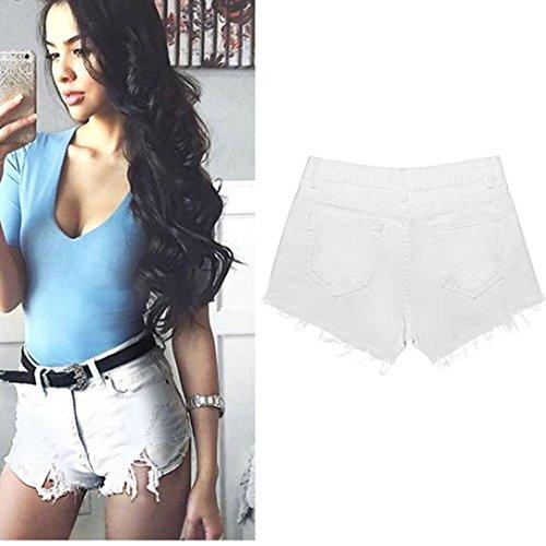 Coerni Sexy Short Jeans for Women Ripped Denim Worn Minipants 2017 Fashion on SALE