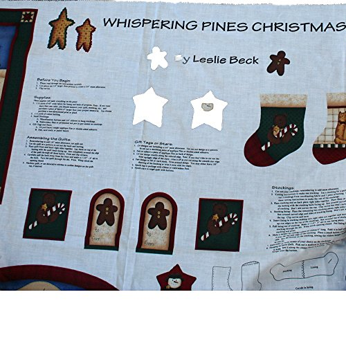 VIP Cranston Print Works Whispering Pines by Leslie Beck Christmas Fabric Panel (Christmas Fabric Cranston)