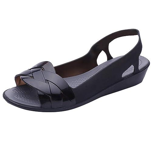 6e33e6de8e70c Amazon.com | PAQOZ Women's Sandals, Beach Elly Shoes Flat Sandals ...