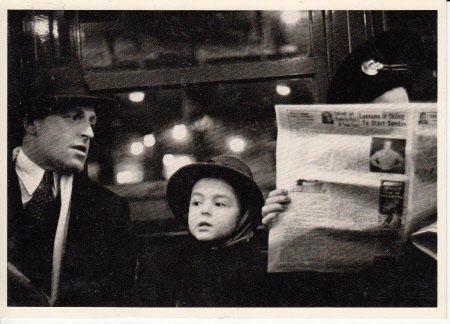 - Unused Postcard dated 1991 from estate of Walker Evans, Photographer Postcard entitled Subway Portrait