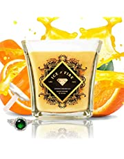 Orange Creamsicle Sterling Ring Soy Candle - 8