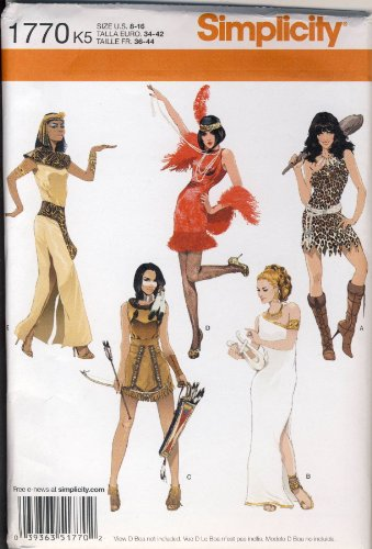 Simplicity 1770 Women's Halloween Costume Sewing Patterns, Sizes 8-16