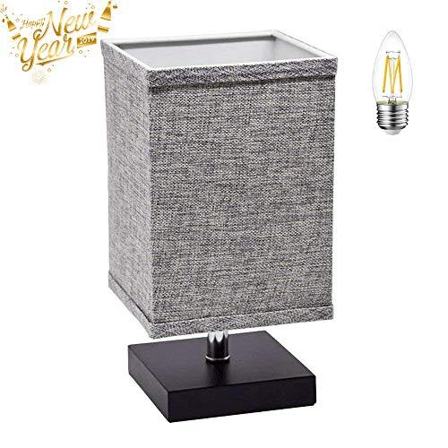 LED Fabric Bedside Table Lamp