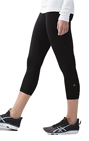 75d276493cfea Amazon.com: Lululemon Inspire Crop II Mesh Black (10): Sports & Outdoors
