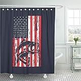 Bass Fishing Shower Curtain Bathroom 72
