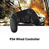 USB Wired Dual Vibration Shock PS4 Controller Gamepad For PlayStation 4 Support Monster Hunter World Etc.