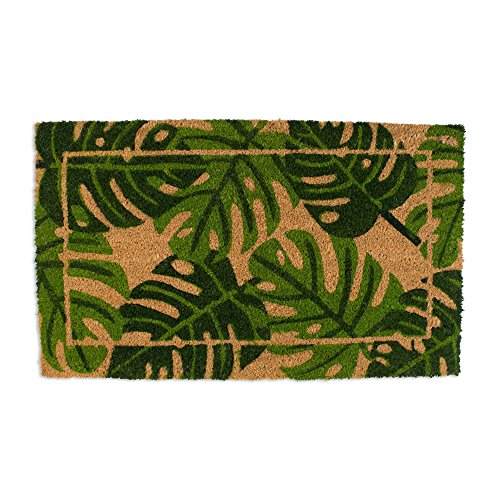J & M Home Fashions 4415A Doormat, 18x30, Palm Leaves