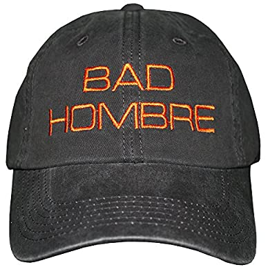 BAD HOMBRE Embroidered INAUGURATION Hat CHOOSE THREAD COLOR Drain The Swamp #DTS