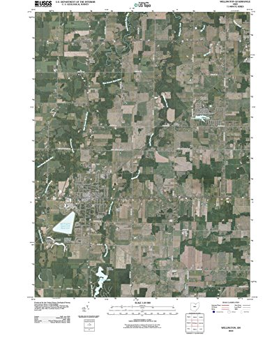 Reproductions Map Historical (Historic Map   Wellington, Ohio (OH) 2010   USGS Historical Topographic Aerial Map   Vintage Chart Wall Art Poster Decor Reproduction   18in x 24in)