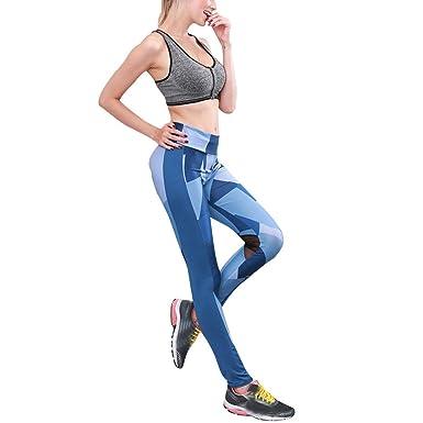 Women Geometric Pattern Lines Printed Workout Leggings - Sports Skinny Yoga  Pants - Elastic Waist Athletic e5d04e96e