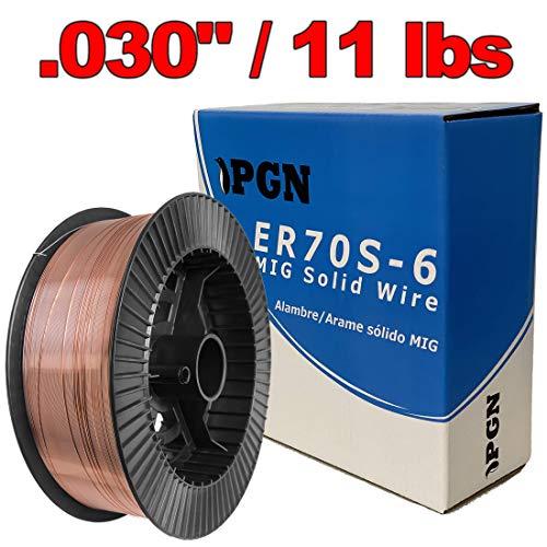 """PGN - ER70S-6 .030"""" (0.8 mm) Mild Steel MIG Welding Wire - 11 Lbs Spool"""