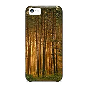 LJF phone case New Premium Flip Case Cover Forest Trees Skin Case For iphone 6 4.7 inch