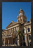 Clock Tower, City Hall (1905), Cape Town, South Africa by David Wall / Danita Delimont Framed Art Print Wall Picture, Espresso Brown Frame, 21 x 30 inches