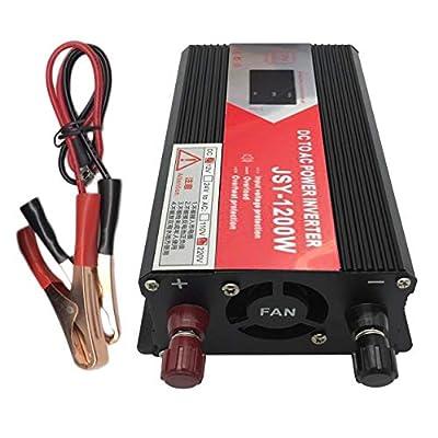 Power Inverter, 1200W DC to AC 220V 110V USB Jump Starter Power Converter Adapter Transformer Emergency Power Bank Voltage Converter Power Switch