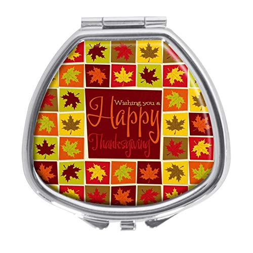 - Maple Leaf Mosaic Thanksgiving Card On Format Design Pill Case Box Western Medicine Tablet Holder Decorative Pill Box for Pocket or Purse