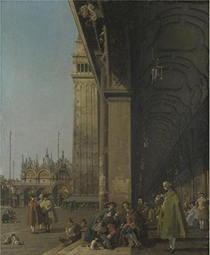 Marco Carta Costume (The Perfect Effect Canvas Of Oil Painting 'Canaletto - Venice - The Piazza San Marco,about 1756' ,size: 16x19 Inch / 41x49 Cm ,this Art Decorative Canvas Prints Is Fit For Basement Decoration And Home Artwork And Gifts)