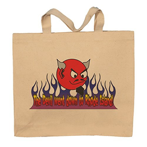 (The Devil Went Down To Rhode Island! Totebag Bag)