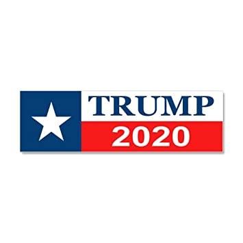 Cafepress trump 2020 car magnet 10 x 3 magnetic bumper sticker