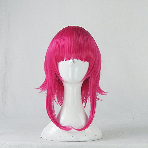 League of Legends Annie Hot Pink Short Cosplay Wig + Free Wig Cap