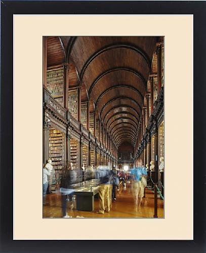 Framed Print of The Long Room in the library of Trinity College, Dublin, Republic of Ireland by Robert Harding