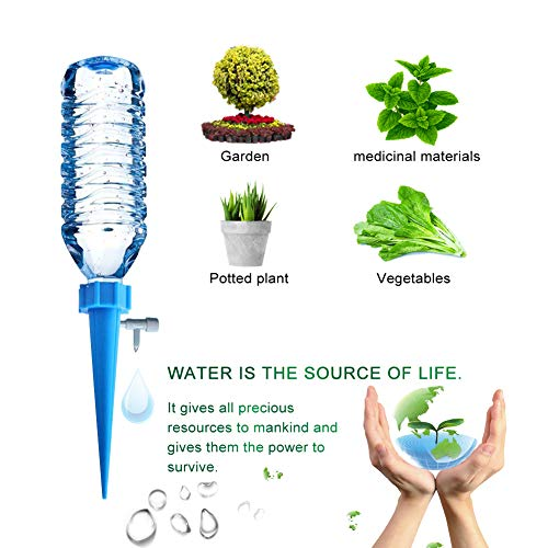 [New Upgrade]Plant Waterer Self Watering Spikes System with Slow Release Control valve switch, Automatic Vacation Drip Irrigation Watering Devices,Care Your Indoor & Outdoor Home Office Plants-12 Pack