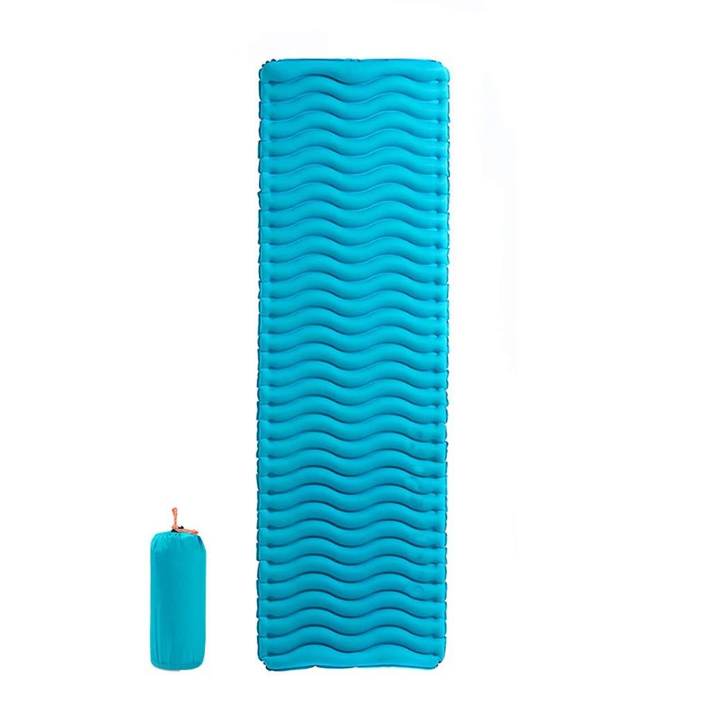 Rcd Outdoor Camping Sleeping Pad Feuchtigkeitsfest Pad Verdickungsmatte Tragbare Einzelne Ultralight Zelt Aufblasbare Kissen Wasserdichte Matres (Farbe   Blau)