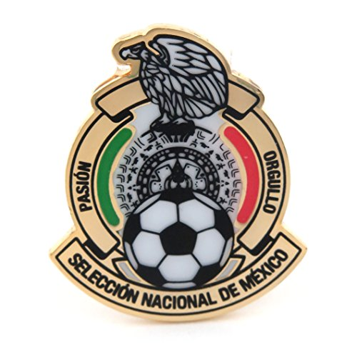 (JF Sports Canada International Soccer Mexico National Team Primary Logo Pin, Small, Multicolor)