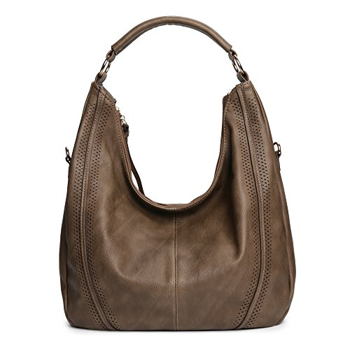 (Women Hobo Bags Oversized Leather Handbags PU Crossbody Shoulder Totes Winter Stylish Purses (Camel-1))