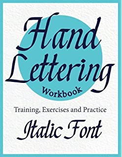 hand lettering workbook italic font training exercises and practice to improve your