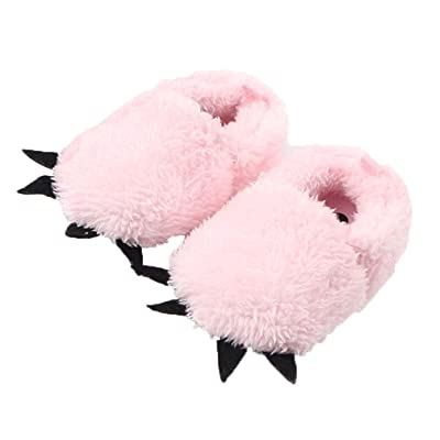 COMVIP Baby Cute Plush Bear PAW Slipper Walking Toddler Shoes