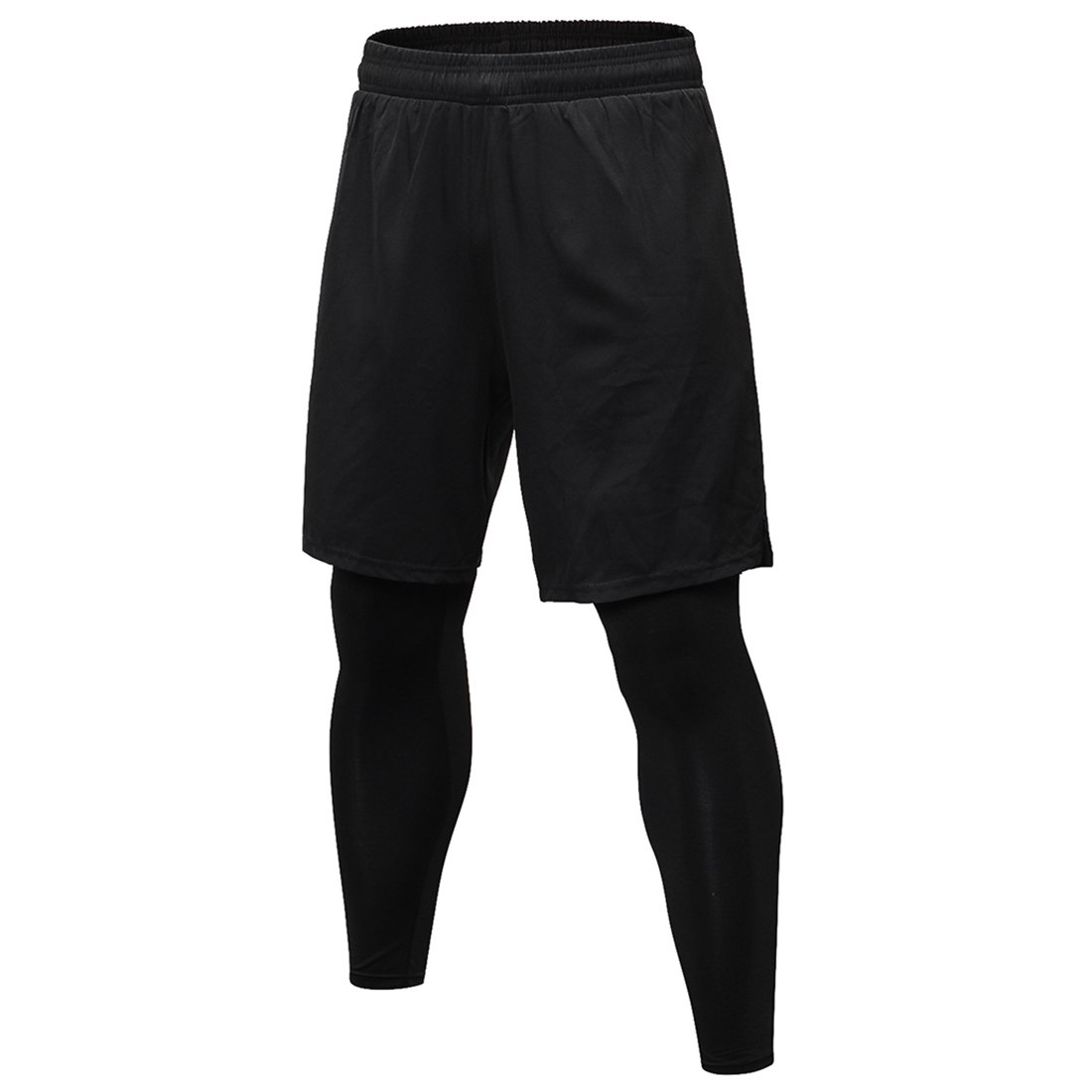 SEVENWELL Männer Sport 2 In 1 Basketball Shorts Kompression Laufhose Hosen
