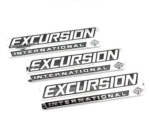 Truck Emblem Warehouse 3 New Custom Chrome Ford 7.3L 6.0L Power Stroke Excursion Badges Emblems Set