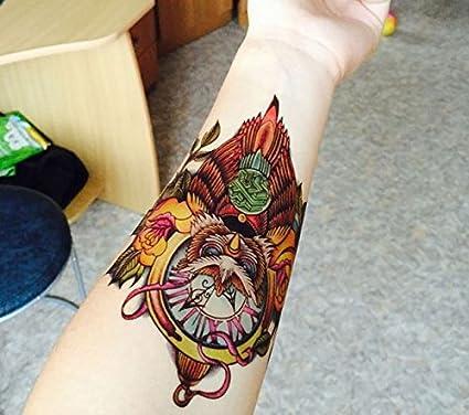 Tatuaje temporalmente traibal búho extraíble lavable Body Art ...
