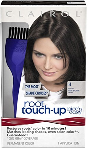 Nice 'n Easy Easy Root Touch-Up, Dark Brown [004] 1 ea (Pack of 10)