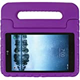 SIMPLEWAY LG G Pad F2 8.0 Case [Not Support Extra Battery Plus Pack], Lightweight Kid-Proof Handle Stand Cover Compatible with LG GPad F2 8.0 Sprint LK460 8-Inch Android Tablet 2017 Release (Purple)