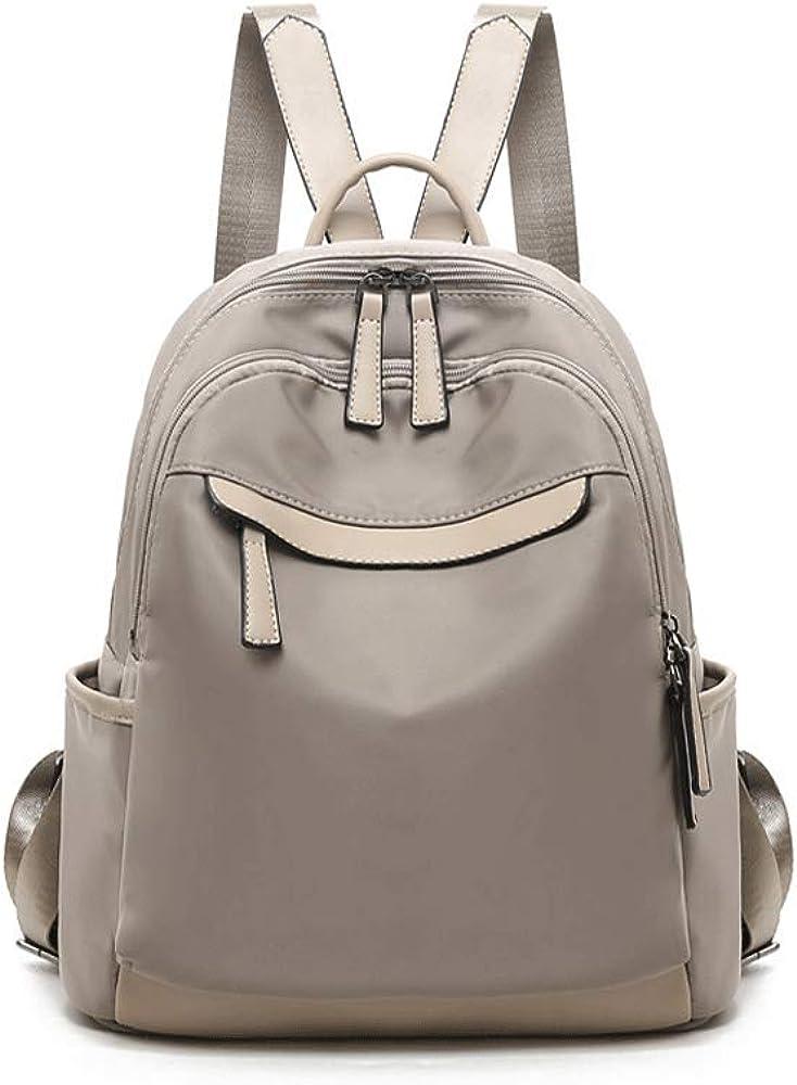 TRDyj Backpack Womens Backpack Korean Version of The Tide Oxford Cloth Canvas Fashion Wild Book Ladies Bag Travel Bag Female Black