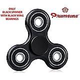 Premsons 608 Four Bearing Fidget Spinner, Black