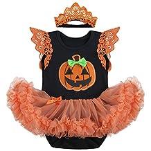 Baby Girls' 1st Halloween Bodysuit Tutu Skirt Cake Smash Outfits with Headband