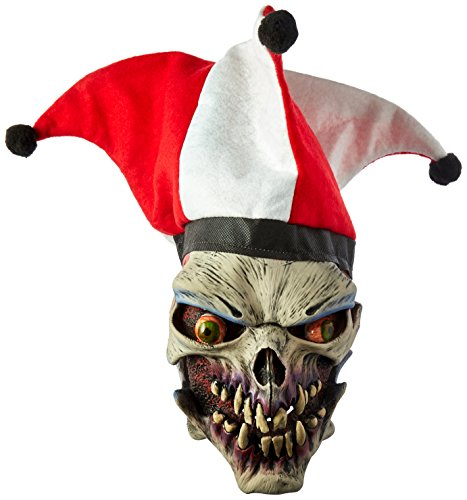 Zagone Die Laughing Mask,  Evil Skull Clown Jester with Hat -
