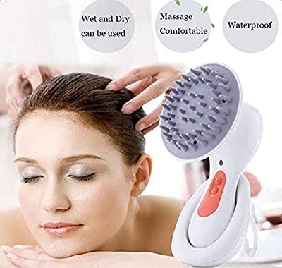 Scalp Massager for Hair Growth, Electric Head Scalp Massager for Head Face Neck Leg Body Spa Shampoo, Handheld Electric Portable Waterproof Vibrating Face Massager