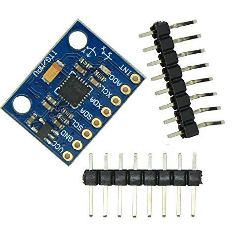 FTCBlock GY-521 MPU-6050 6-axis Accelerometer Gyroscope Sensor Module 16 Bit AD Converter Data Output IIC I2C for Arduino and Raspberry Pi