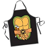 ninja turtles gifts - ICUP Nickelodeon - TMNT - Michelangelo Be The Character Adult Size 100% Cotton Adjustable Black Apron