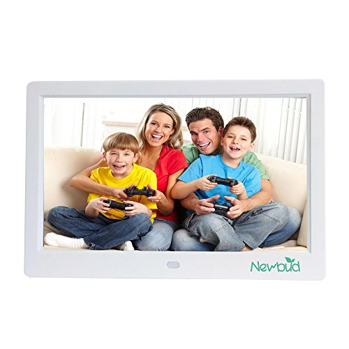 10 inch TFT LCD Wide Screen Digital 2000 Photos Display Frame with Calendar Support Tf Sd /Sdhc /Usb Flash Drives- Support 32GB SD Card Photo Digital Gift