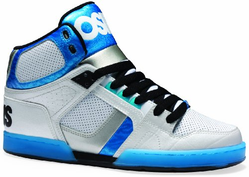 Osiris NYC 83, Sneaker a collo alto uomo Bianco (Weiß (White/Blue/Black))